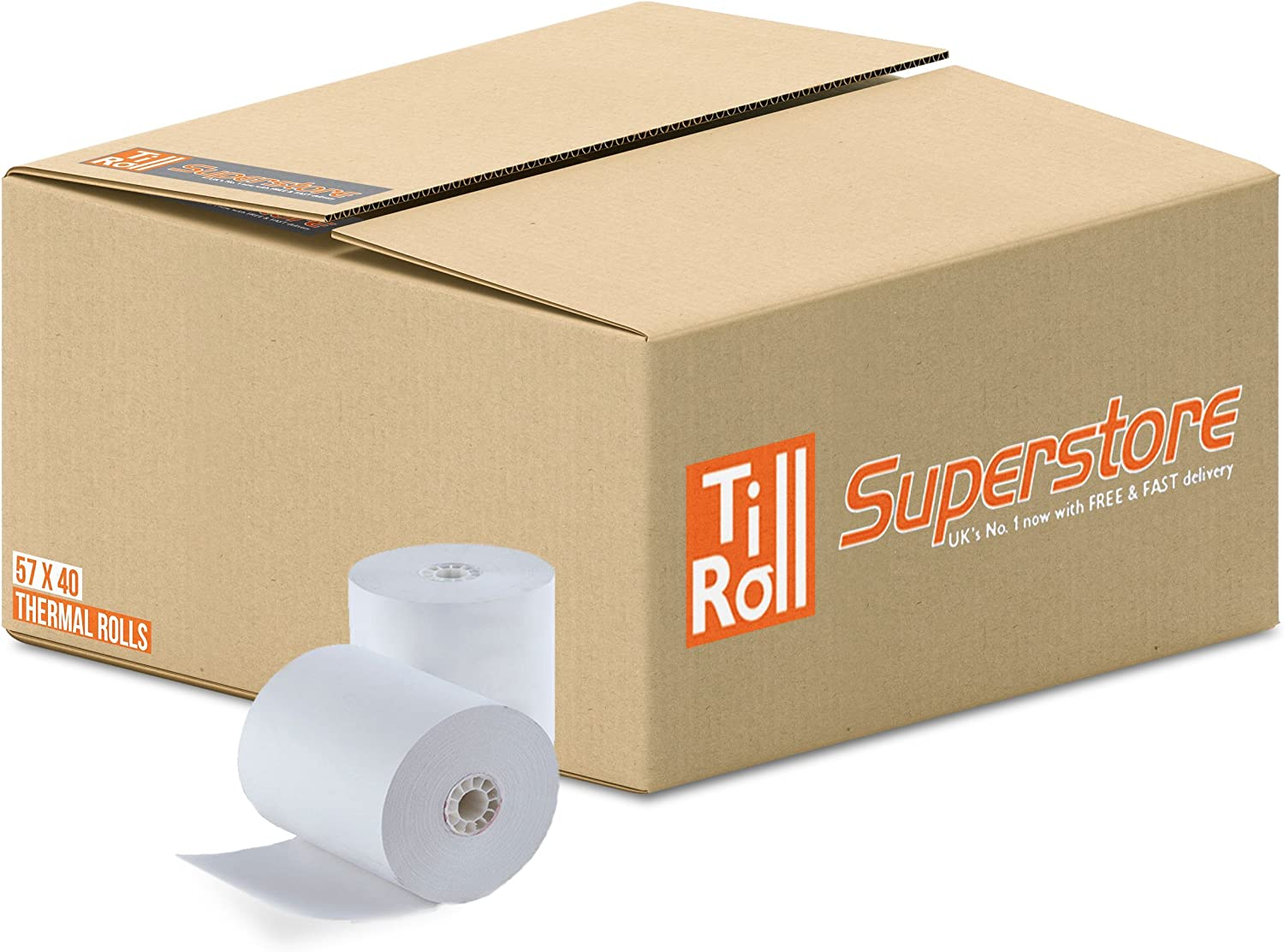 1 Box 20 Rolls of 57x40 Thermal Rolls for Credit Card Machines