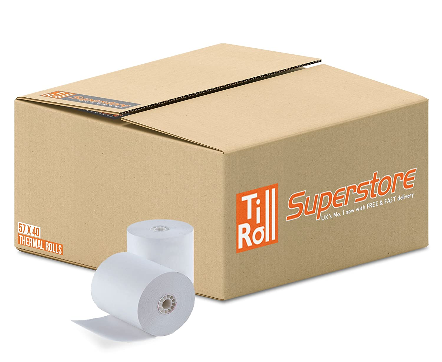 57  x 40  Thermorollen (20  Rollen) Till Roll Superstore