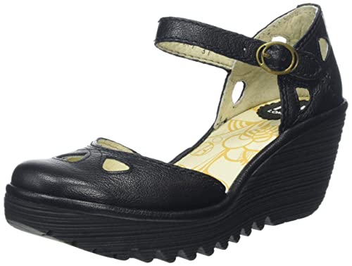 cc01920a Fly London Yuna, Sandalias Mujer, Negro (BLACK 090), 41 EU: Amazon.es:  Zapatos y complementos