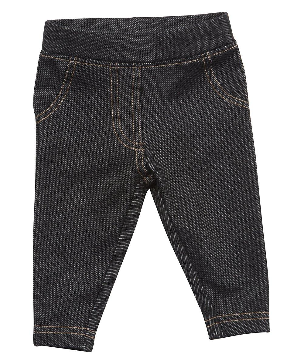 Baby Girls Infant Toddler Soft Denim Look Leggings Jeggings Trouser Pants Black Navy 0-24 Months