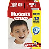 Huggies Snug & Dry Diapers, Size 6, 140 Count (One Month Supply) (Packaging may vary)