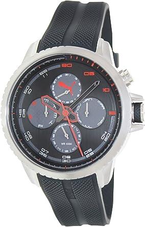 amazon com puma chronometer watch pu103271003 silicone band and puma chronometer watch pu103271003 silicone band and black dial