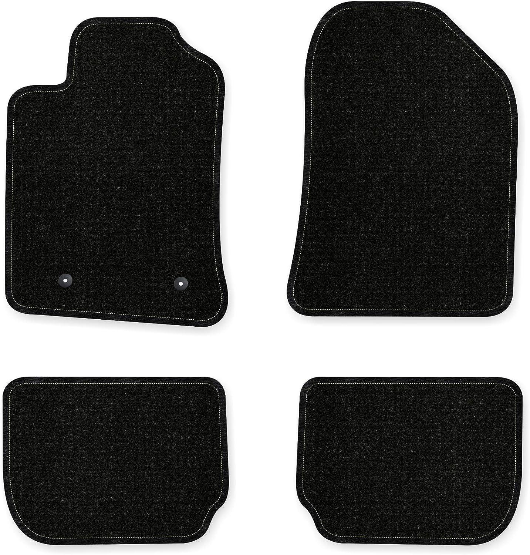 Bär Afc Ty03824 Basic Auto Fußmatten Nadelvlies Schwarz Rand Kettelung Schwarz Set 4 Teilig Passgenau Für Modell Siehe Details Auto