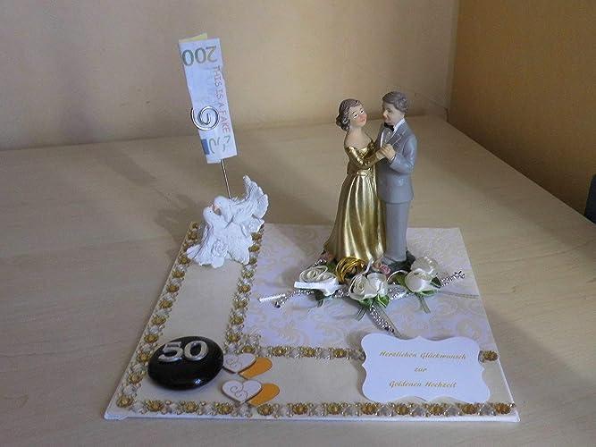 Goldhochzeit Geldgeschenk Geschenk Goldene Hochzeit Amazon De