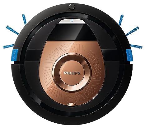 Philips Smart Pro Compact FC8776/01 - Robot Aspirador, 4 Modos de Limpieza, Alto Rendimiento en Suelos Duros, Sensores Infrarojos y Anticaida, 120 min ...