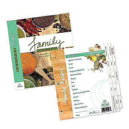 Amazon Ahh Hah Family Recipe Organizer Kits LONG Index Tabs