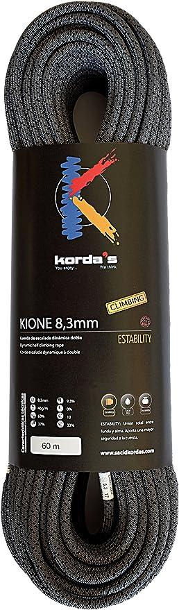 Kordas Kione 8.3 Cuerda de Escalada, Gris, 60 m: Amazon.es ...