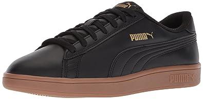 5abec2a119c5 PUMA Men s Smash v2 Leather Plus Sneaker Black