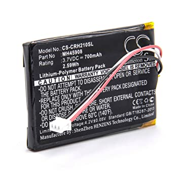 vhbw Litio Polímero Batería 700mAh (3.7V) para Auriculares inalámbricos Cascos como Corsair MH45908