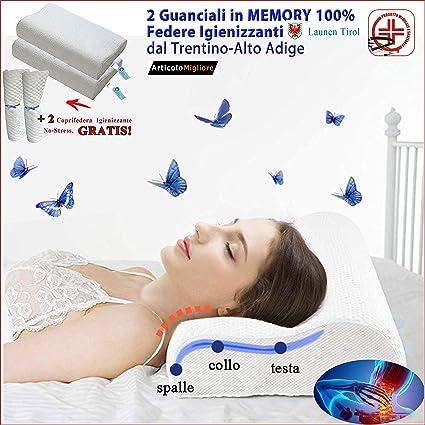 Naugust Cuscino Memory Supporto Memory Foam Cuscino Collo Collo Supporto Schiuma per Alleviare Il Dolore