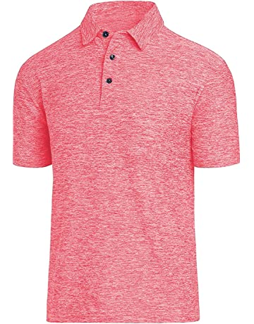 a66409000 Men Polo Shirts, Dry Fit Short Sleeve Athletic Golf Polo Shirts for Men