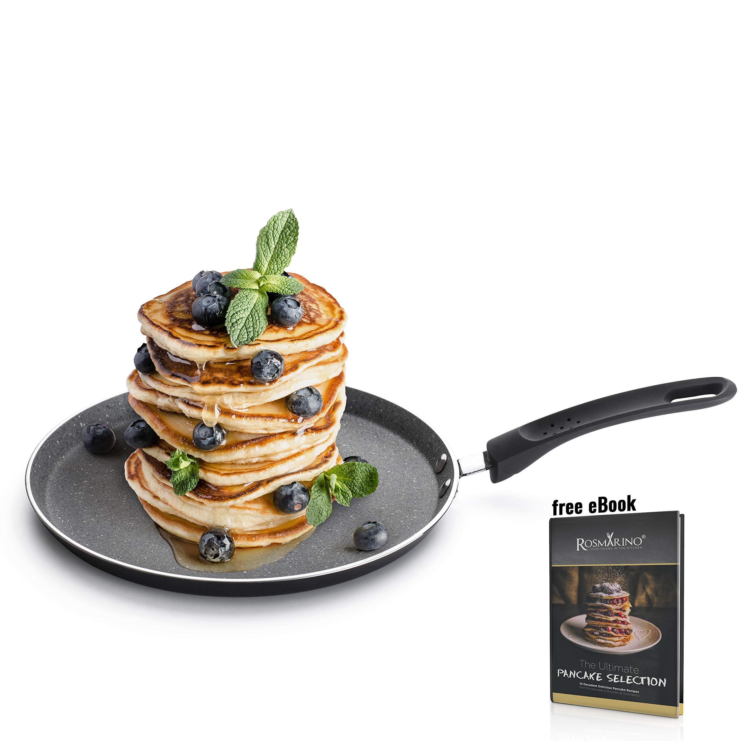 ROSMARINO sartén de induccion para crêpes y Tortitas 25cm I sartén crepera de Aluminio con Revestimiento