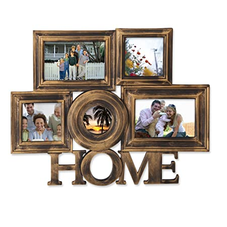 Decenthome 5 Opening Photo Collage Picture Frames Wall Hanging
