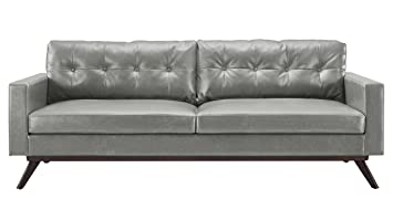 TOV Furniture The Blake Collection Contemporary Living Room Antique  Eco Leather Upholstered Living Room Sofa