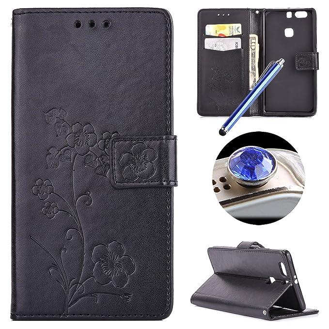 1 opinioni per Etsue Huawei P9 Plus Custodia Portafoglio,Huawei P9 Plus Cover Case Pelle,Lusso