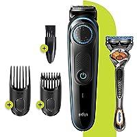 Braun BT 5240 Saç&Sakal Şekillendirici,AutoSense Teknoloji,Siyah&Mavi,Kablosuz,Yıkanabilir,Kuru Kullanım+Gillette Hediye