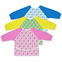 Australian Designed Sleeved Baby Bib with Pocket 6-24 months. Waterproof: Full Coverage for Highchair Feeding, Arts and…