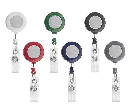 Karteo® Yoyo cordón extensible Yoyo Badge Reel negro con ...