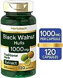 Black Walnut Hulls | 1000 mg | 120 Capsules | Non-GMO & Gluten Free | by Horbaach