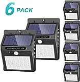 Solar Lights Outdoor [42 LED/3 Working Mode], SEZAC Solar Security Lights Solar Motion Sensor Lights Wireless IP 65 Waterproof Outdoor Lights for Garden Fence Patio Garage