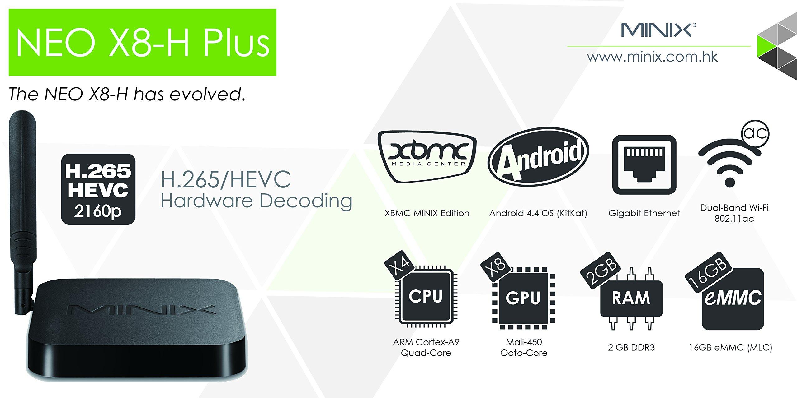MINIX X8-H Plus Smart TV Box Mini PC & Media Streaming Player Amlogic S812-H Quad-Core Cortex-A9 Processor up to 2.0GHz Android 4.4.2 Full 2160p H.265/HEVC HDMI 2G/16G Hardware Recording by Jesurun (Image #5)