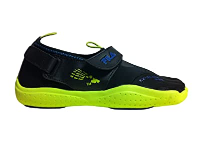 7c6292dc80 Amazon.com | Fila Skele-TOEZ EZ Slide 3PK14074 Black/Lime Men's ...