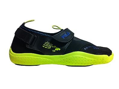 c2fdf14dd8 Amazon.com | Fila Skele-TOEZ EZ Slide 3PK14074 Black/Lime Men's ...