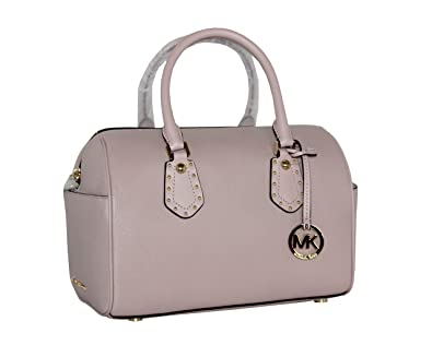 2255f6adfc26 MICHAEL Michael Kors Women's ARIA MEDIUM Leather Satchel Studded Handbag  (Blossom)