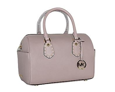 c8b096081848 MICHAEL Michael Kors Women s ARIA MEDIUM Leather Satchel Studded Handbag  (Blossom)