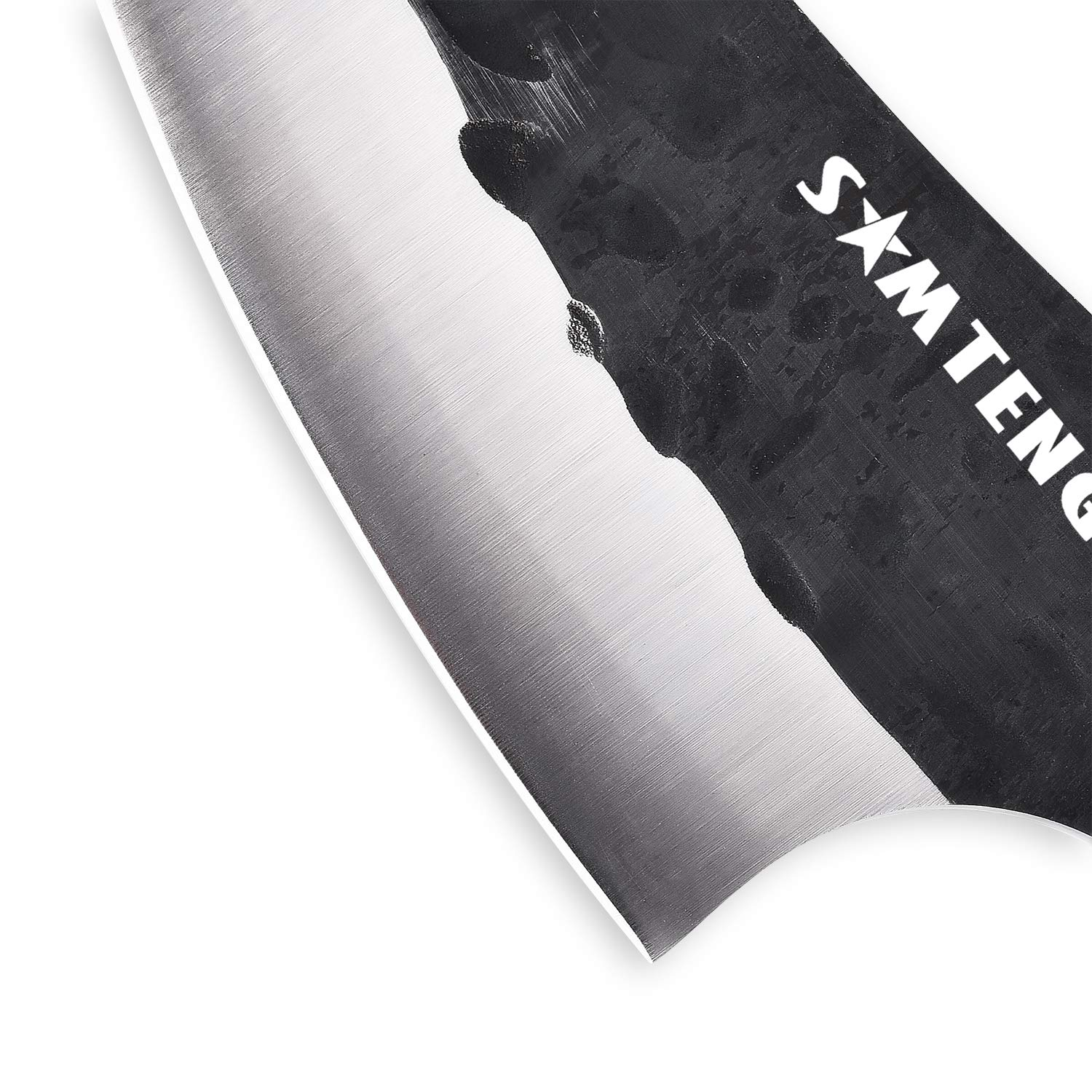 SMTENG Boning Knife 5.5 inch Handmade Forged Hammered kitchen Knife Full tang Sharp Blade Chef Knives Outdoor BBQ Meat Cleaver by SMTENG (Image #3)