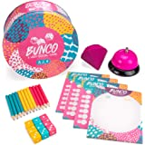 Bunco: A Very Social Game - 12-Player Party Dice Game Includes Dice, Scorecards, Pencils, Bell, & Squishy Traveling…