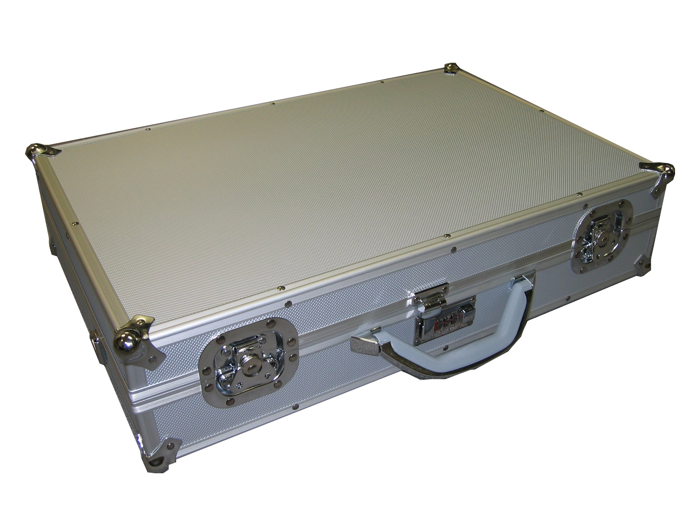 Silver Aluminum Multi purpose Case For Tool/Camera/Hardware and More With Combination Lock and Foam Ship to CANADA&USA