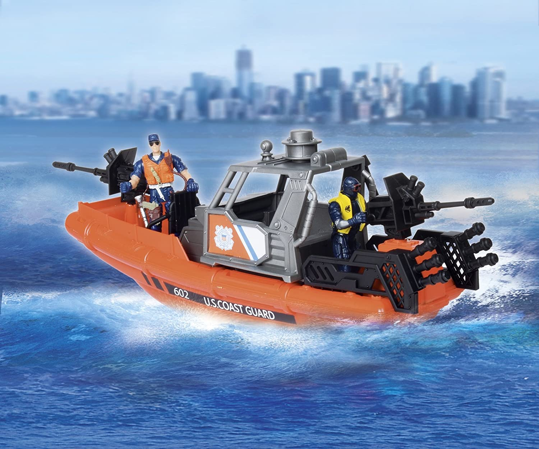 United States Coast Guard Rescue Boat Playset