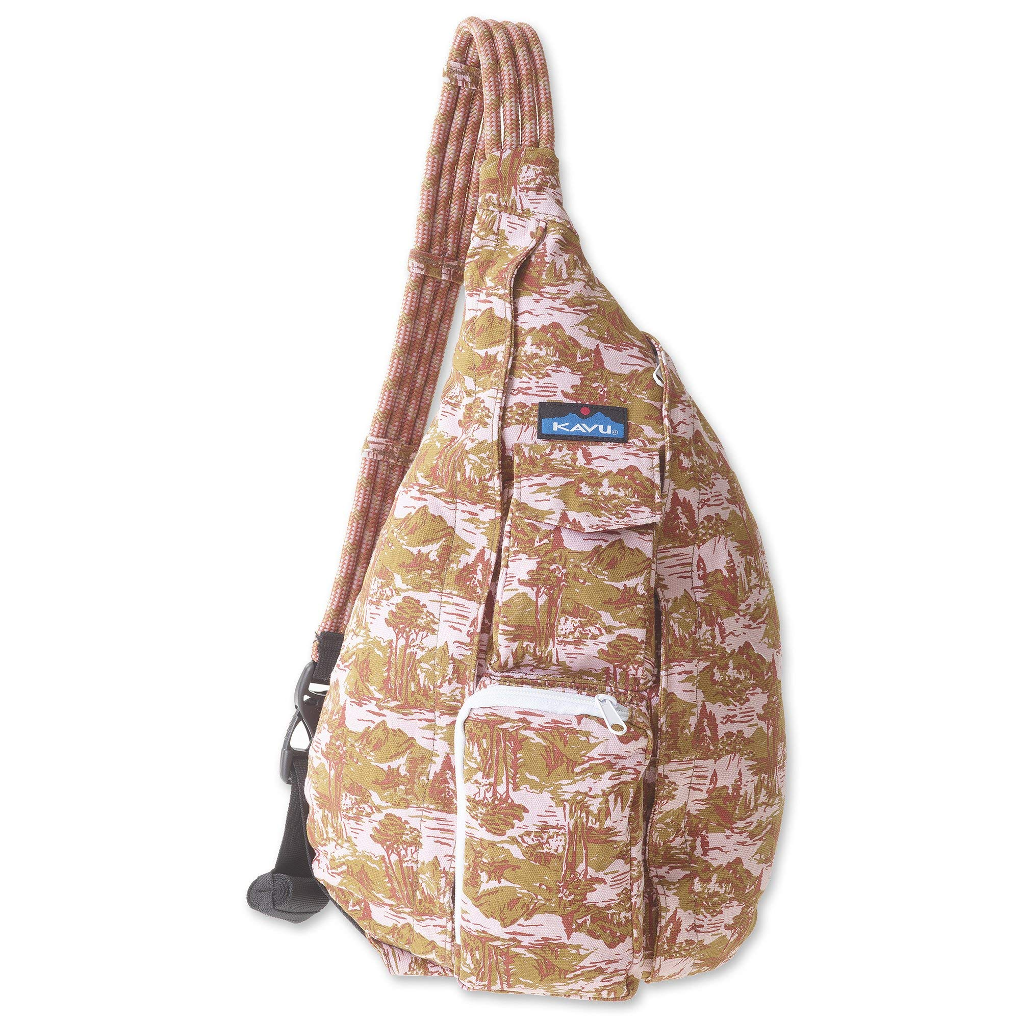 KAVU Rope Bag - Sling Pack for Hiking, Camping, and Commuting - Blush Landscape