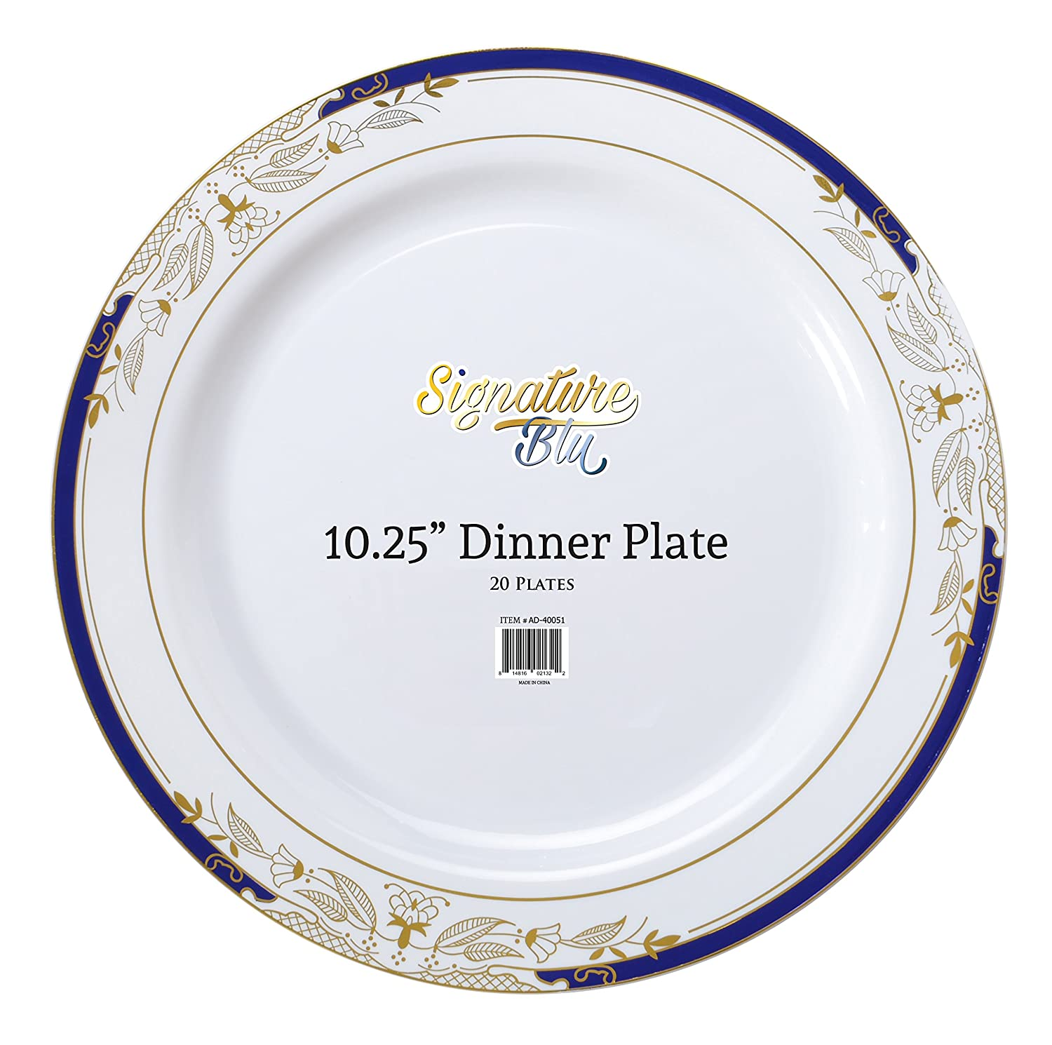 Amazon.com | Plastic China Plate Silverware Combo Serving for 20 (115 piece set) Signature Blue Dinnerware Sets  sc 1 st  Amazon.com & Amazon.com | Plastic China Plate Silverware Combo Serving for 20 ...
