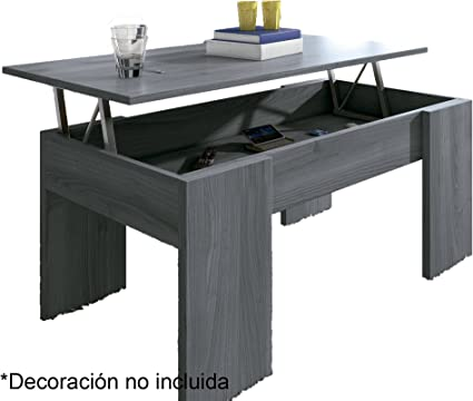 Mesa Centro elevable Eva, Blanco, wengue, Nogal, Ceniza, Cambria ...