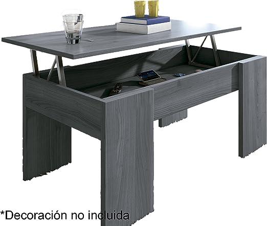 Mesa Centro elevable Eva, Blanco, wengue, Nogal, Ceniza, Cambria ...