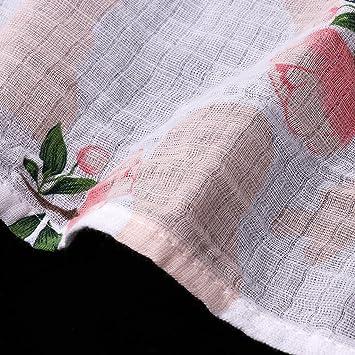 Rose Baoblaze Weiches Musselin Babyt/ücher Decke Neugeborenes Baby Baumwolle Swaddle Handtuch Mullwindeln Spuckt/ücher