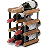 Countertop Wine Rack - 6 Bottle Wine Holder w/ 2 Extra Slots - No Assembly Required - Small Wine Racks Countertop - Small Win