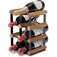 Countertop Wine Rack - 6 Bottle Wine Holder w/ 2 Extra Slots - No Assembly Required - Small Wine Racks Countertop…