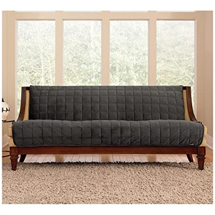 Charmant Sure Fit Quilted Velvet Furniture Friend Armless Sofa Slipcover, Gray