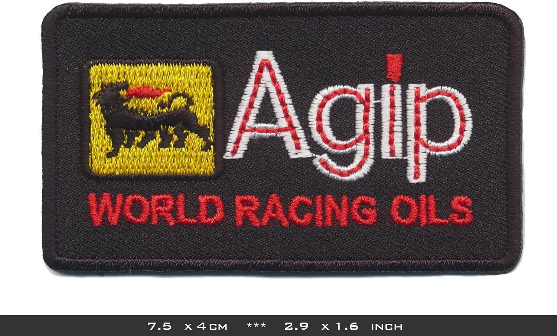 Agip Aufn/äher Patches Aufb/ügler Tankstelle Motorsport Rennsport Racing Team Black