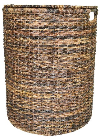 Wicker Hamper - Dark Global Brown - Threshold™ : Target