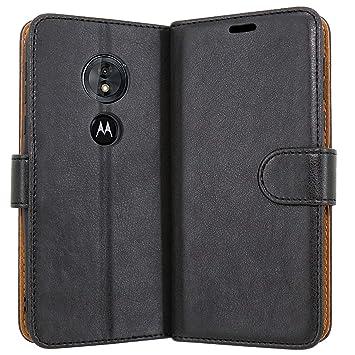 Case Collection Funda de Cuero para Motorola Moto G6 Play Estilo Cartera con Tapa abatible y Ranuras para Dinero y Tarjeta de crédito para Motorola ...
