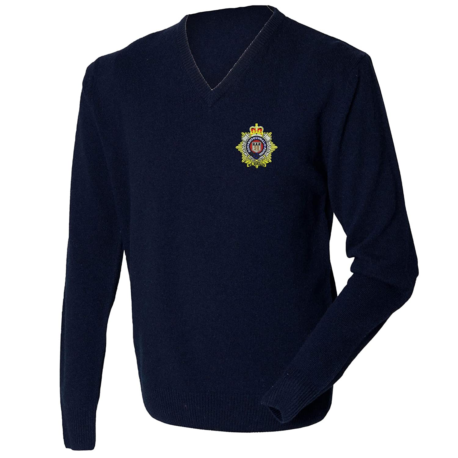 Royal Logistic Corps Lambswool V-neck Jumper.