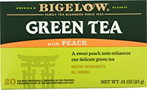 Bigelow Green Tea w/ Peach Tea Bags, 20 ct