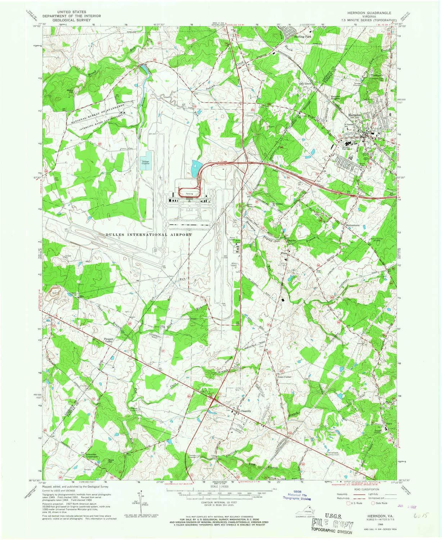 Amazon Com Yellowmaps Herndon Va Topo Map 1 24000 Scale 7 5 X