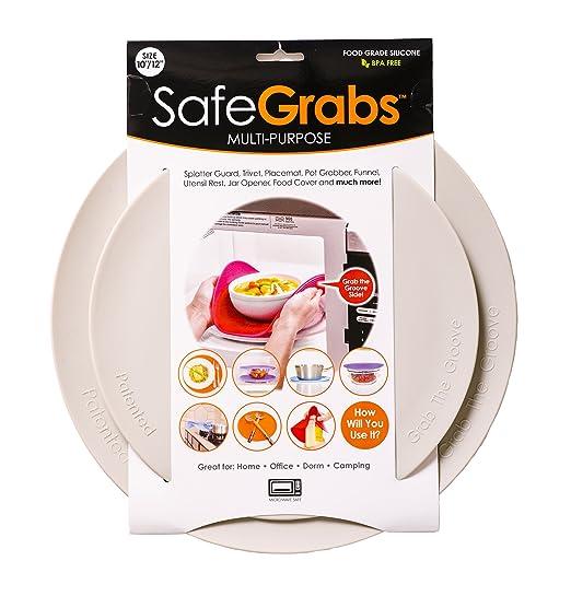 Safe Grabs - Protector de microondas multiusos 8 en 1 de silicona ...