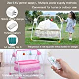 CBBBBAY Electric Baby Cradle Swing Sleeping Rocking Basket Bassinet Newborn Crib Bed