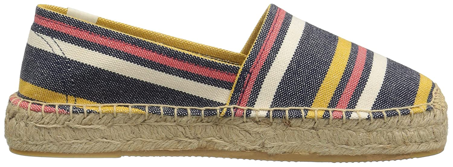 Soludos Women's Striped Original Platform US|Navy/Yellow Slipper B01NCS6NEH 6 B(M) US|Navy/Yellow Platform 6cbded